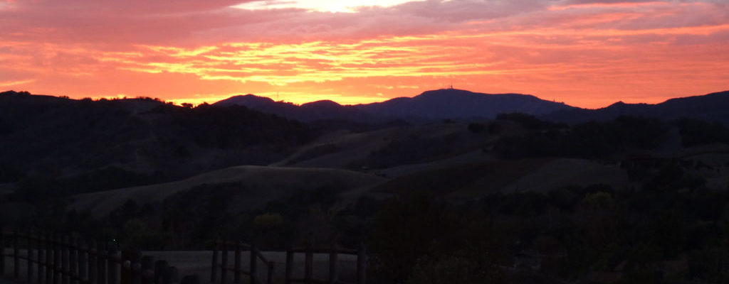 Ojai Trail Sunset - Header